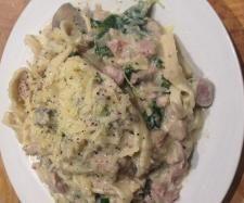 "Recipe ""Healthier"" NO cream chicken & mushroom pasta carbonara  by bianca83 - Recipe of category Pasta & rice dishes"