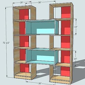 I adore these bookcases. I don't have anywhere to put them, but I adore them.