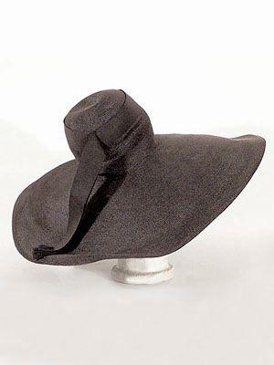 "Adrian custom designed straw hat with gros-grain ribbon trim, c.1940. Label: ""Adrian Custom."""