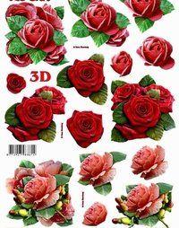 3D stanssattu 3 ruusukuvat - Paprus / Anntec Tmi