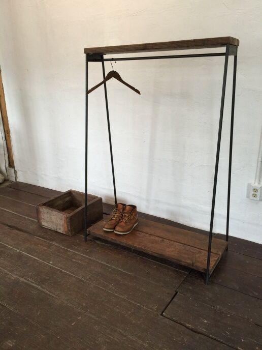 数量限定 ハンガーラック アイアン アンティーク 古材 古木 貴重