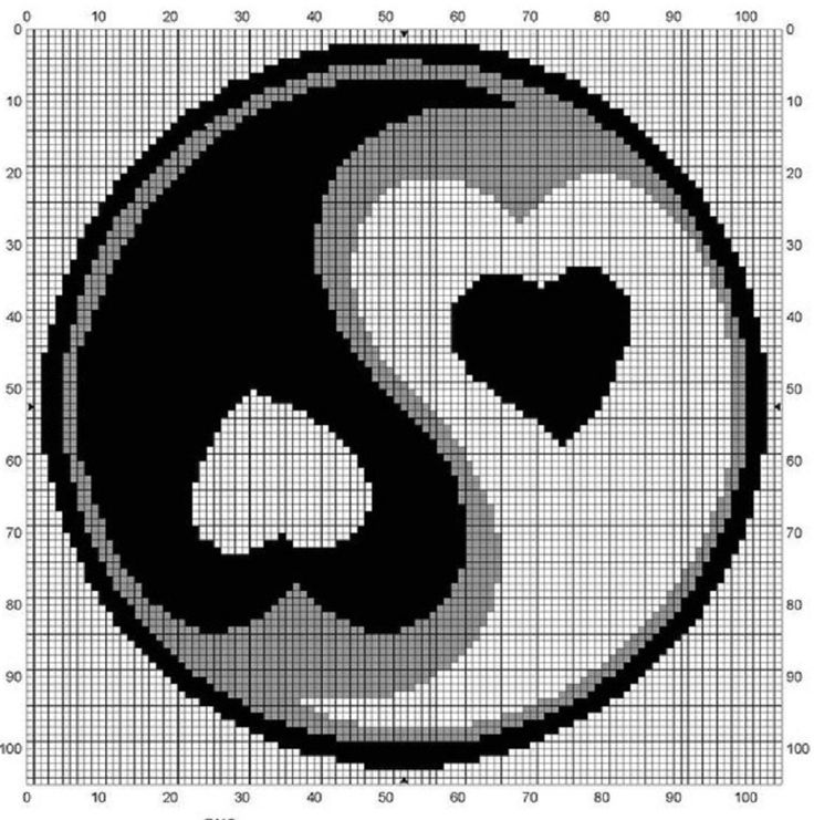 Free Crochet Pattern Yin Yang : 17 Best images about filet crochet on Pinterest Cross ...