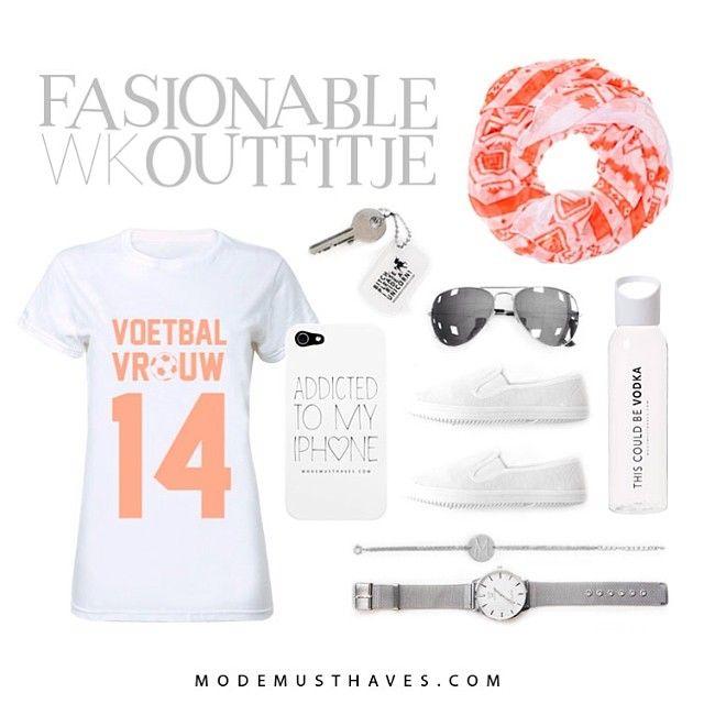 Hup, Holland, Hup!!! Een fashionable oranje outfitje voor het WK :-) Shop alle musthaves via de site of onze app
