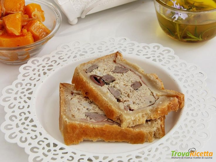 TERRINA IN CROSTA CON CONIGLIO, LARDO E FEGATO per MTC64  #ricette #food #recipes