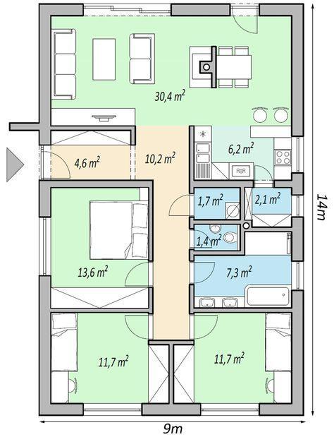 345 besten Haus Bilder auf Pinterest Bungalows, Hauspläne und - küche selber planen