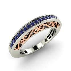 Fiona Round Shire Wedding Ring In White Gold