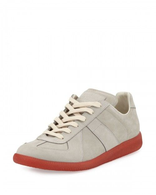 Maison+Margiela+Replica+Leather+Low+Top+Sneakers+43+5eu+10+5us+Black+|+Shoes+and+Footwear