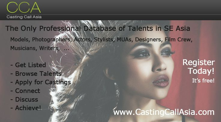 Join us at: http://www.CastingCallAsia.com  admin account: http://www.castingcallasia.com/en/profile/preferences/CCA-Administrator  Pictures: http://www.castingcallasia.com/en/gphotos  Videos: http://www.castingcallasia.com/en/gvideos