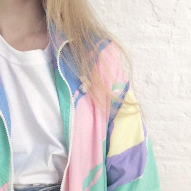 Jacket: pastel, kawaii, kawaii grunge, pastel pink, soft grunge, white, pale grunge, windbreaker, multicolor, pink, blue, grunge, hipster, grunge jacket, tumblr, pale, yellow, green, violet, coat, tumblr outfit, tumblr girl, jacket multicolor, girl, cute, oufit, underwear, pastel goth, bomber jacket, vest, colorful, color/pattern, girl, top, girly, sporty jacket, pastel jacket, colorful, 90s style, fairy kei, weheartit, purple, retro, 90s jacket, cool, aesthetic, daddy, baby girl, black…