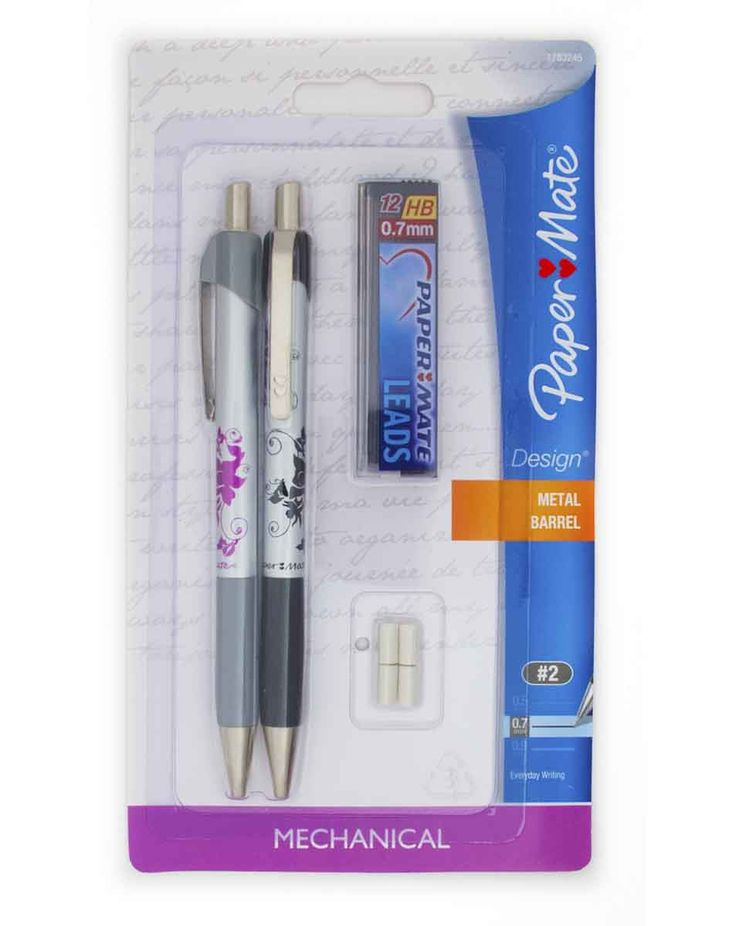 Paper Mate Profile Ballpoint Retractable Pen, Assorted Ink, Bold, 8/Set