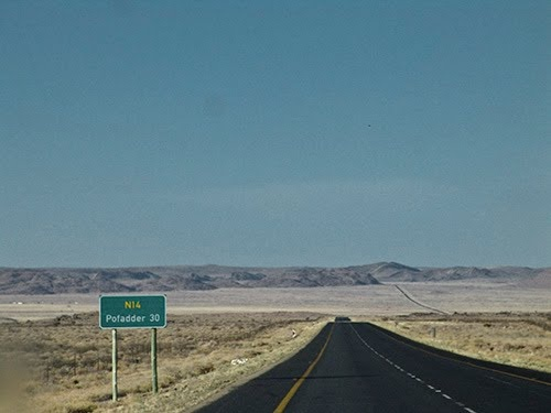 The longest stretch of straight road I've ever travelled on....Pofadder, South Africa