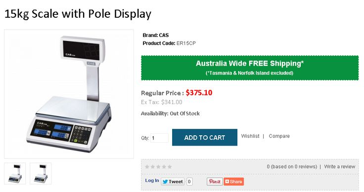 The CAS ER is a stylish rugged 15kg price computing scale suitable for many retail environments. This version has a pole display@FREE Shipping in Australia..!  http://www.onlypos.com.au/weighing-scales/cas-er-15-plus-15kg-scale-w-pole