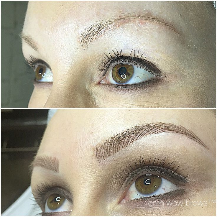 Natural eyebrow tattooing hair stroke feather touch for How is microblading different to tattooing