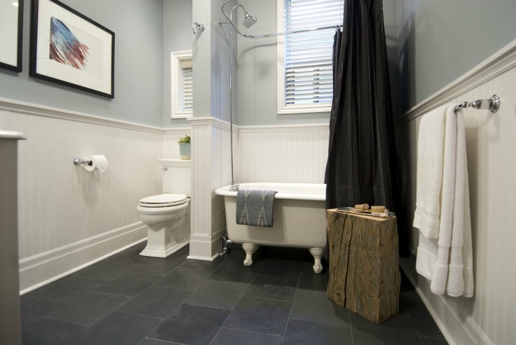 Black Slate Tile 12x12 In Bathroom Bathroom Ideas Pinterest Slate Tiles Slate And Tile