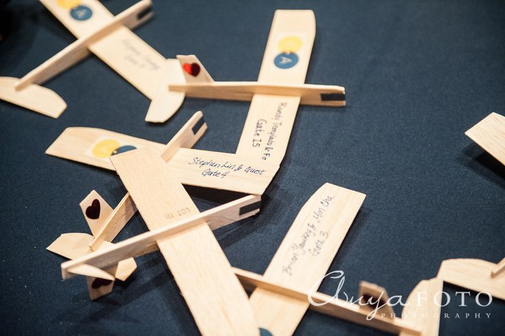 Place Cards anyafoto.com, wedding, wedding place cards, place card ideas, place card designs, plane shaped place cards, unique place cards, place card table