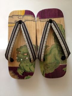 Japanese illustrated sandals