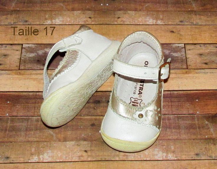 Chaussures bébé taille 17 | Couleur Blanc argenté | Boucle | Orchestra |Occasion