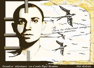 Y UNA TIZA AL CIELO: Miguel Hernández (póster digital)
