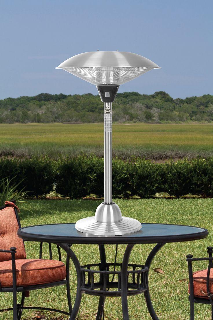 best  tabletop patio heater ideas on pinterest  outdoor  - stainless steel tabletop electric halogen patio heater