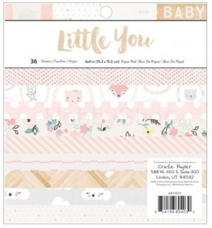 Little You Girl - sada scrapbook papierov 6x6 inch / 36 ks