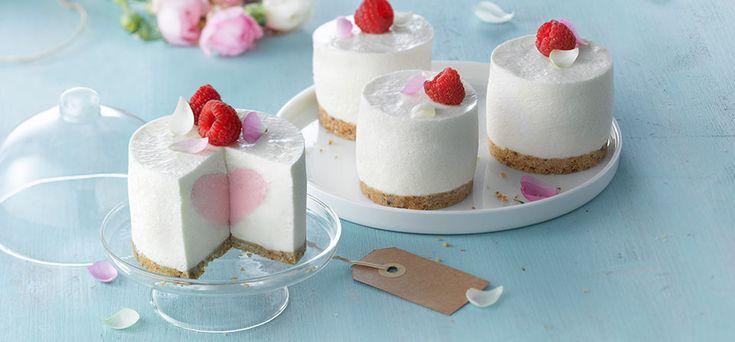 Philadelphia Rose & Raspberry Cheesecake