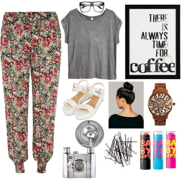 """Always time for coffee"" by zerouv on Polyvore: Super Oversize Square Clear Lens Fashion Glasses 8830"