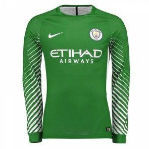 Manchester City Brankářské Domácí Dres 17-18 Dlouhý Rukáv