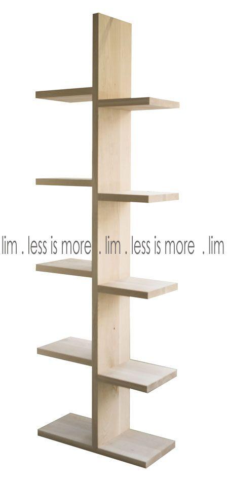 10SU/OAK - B6.10su/oak -  Solid raw oak spine shelf