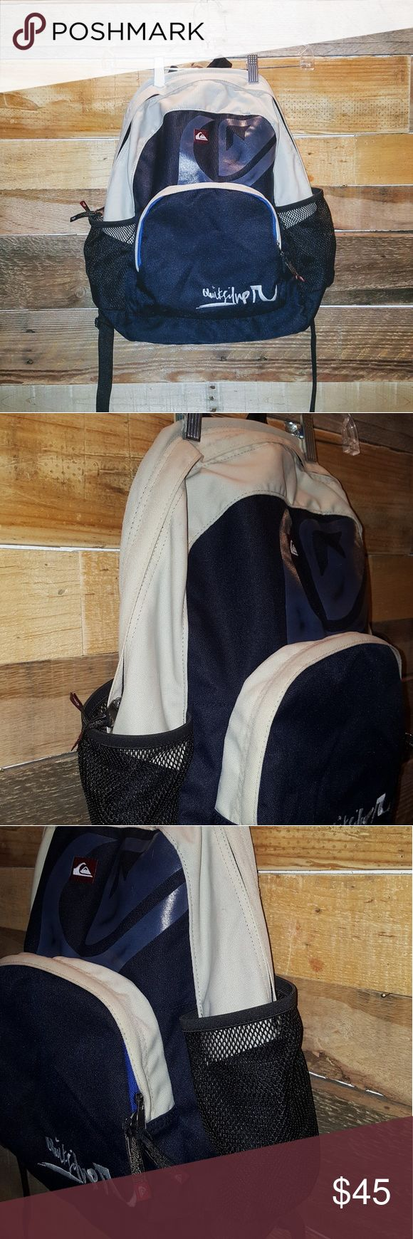 🌟QUIKSILVER NAVY/GRAY BACKPACK🌟 QUIKSILVER COLOR NAVY/GRAY SIZE LARGE EXCELLENT CONDITION COLOR WEAR(ON GRAY PART) CAN BE WASHED GREAT TRENDY BACKPACK 1 LARGE COMPARTMENT 2 SMALLER ZIPPER FRONT COMPARTMENTS MESH BOTTLE HOLDERS ON BOTH SIDES PADDED BACK & STRAPS USE FOR SCHOOL, HIKES,TRIPS,OUTTINGS HOLDS A LOT OF STUFF *NO TRADES NO RETURNS ASK QUESTIONS PLEASE* Quiksilver Bags Backpacks