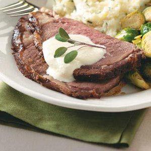 @Taste of Home Prime Rib with Horseradish Cream Recipe