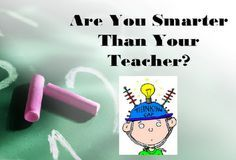 """This is a Game Show created for our Rock The Test Pep Rally.  Let's play """"Are You Smarter Than Your Teacher?"""" to see if you know which test taking strategies you should use."""