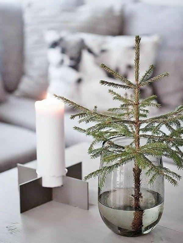 Fir Tree Pillar Table Decoration Winter Home Decoration