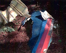 Plane wreckage found at the crash site of United 93...the United stripes clearly visible..take that loose changers!