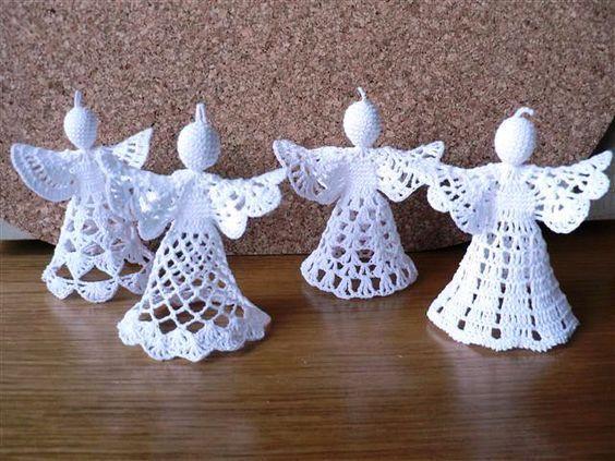 Kan jij haken? PRACHTIGE gehaakte kerst engeltjes en ornamenten voor in de boom! MET patronen! - Zelfmaak ideetjes