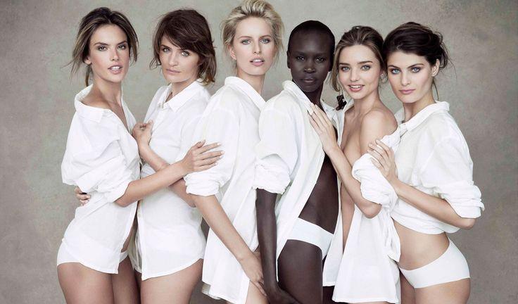 Pirelli Calendar 50ths anniversary edition - Pirelli calendar 2014 featuring models Alessandra Ambrosio Isabeli Fontana and Miranda Kerr