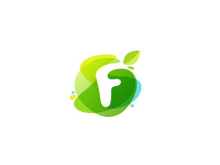 Green watercolor F by Roma Korolev (kaer logo) #Design Popular #Dribbble #shots