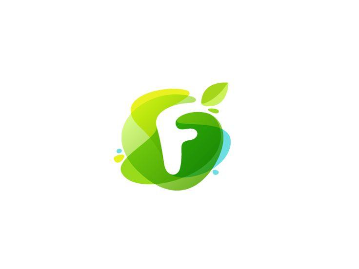 Green watercolor F by Roma Korolev (kaer logo) #Design Popular #Dribbble #shots