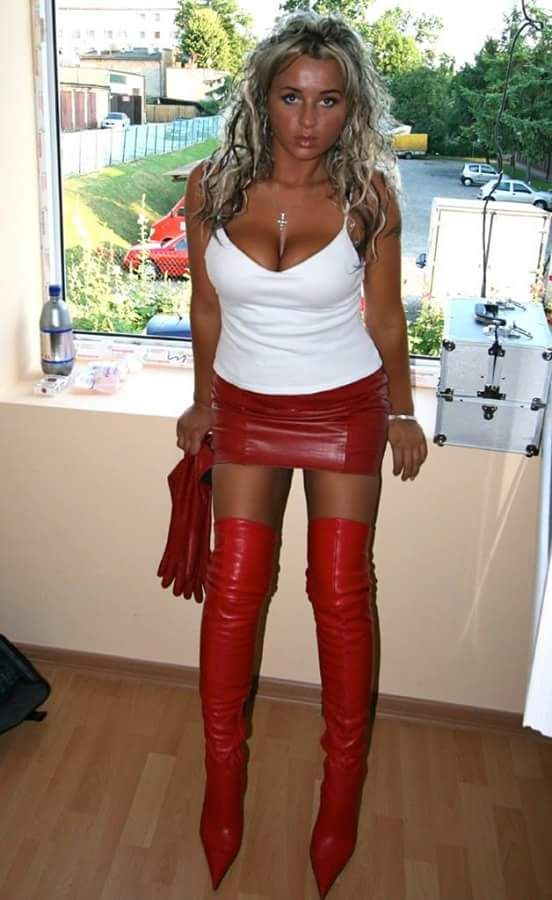 Thigh dress and sexy boots high