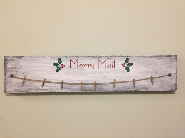 Merry Mail Christmas card holder. A favorite from my Etsy shop https://www.etsy.com/listing/490418285/merry-mail-christmas-card-display