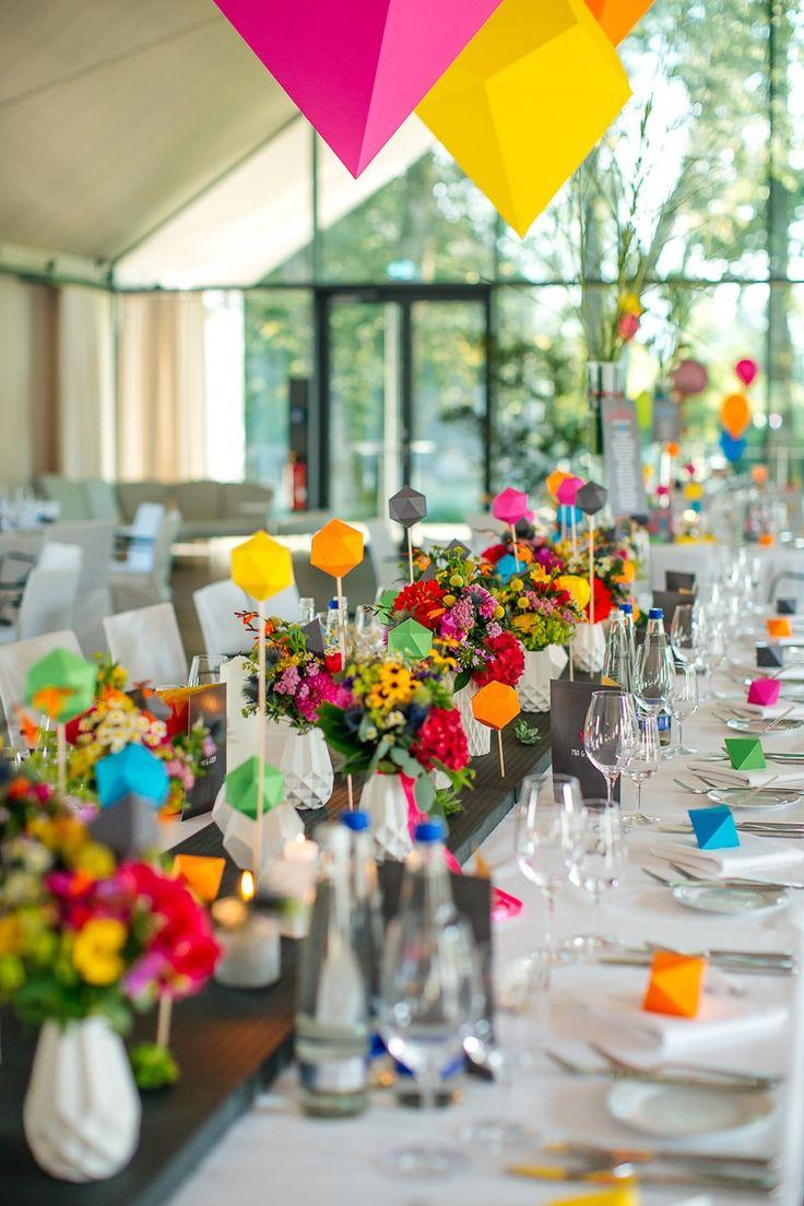 COLORFUL GEOMETRIC FLAMINGO WEDDING   Bespoke-Bride: Wedding Blog