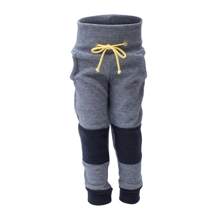 Blue Melange Pants [Size Adjustable]