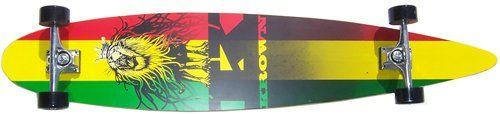Krown Rasta City Surf Longboard Skateboard Krown
