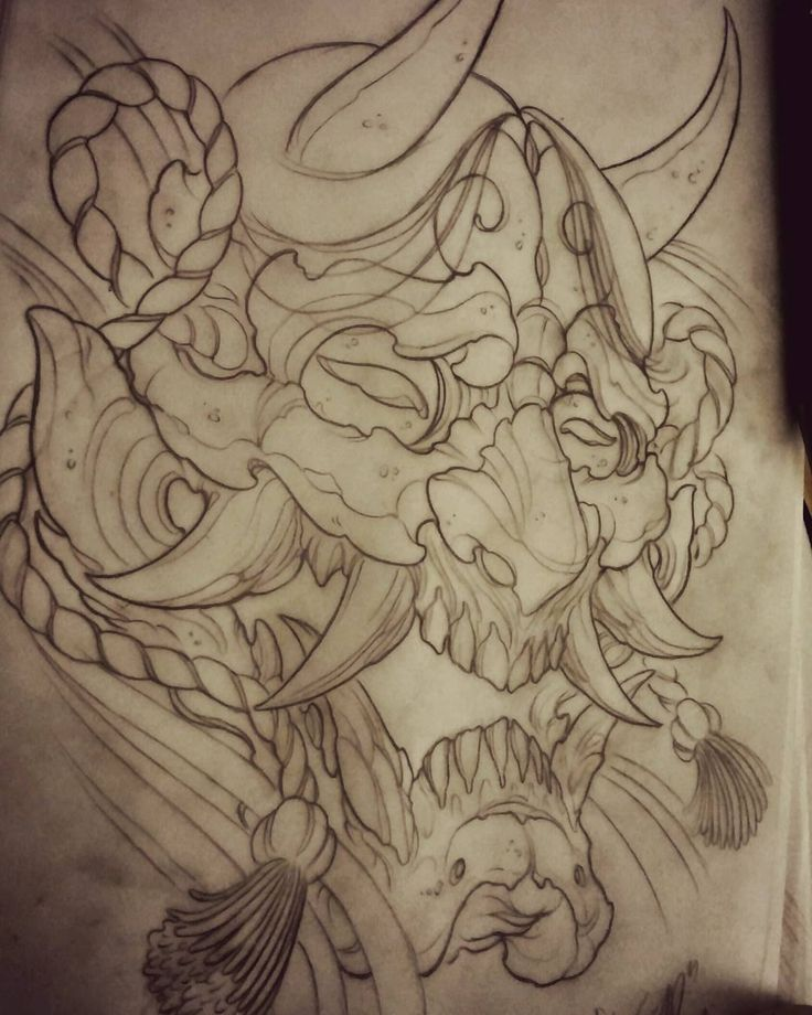 Japanese Hannya Design