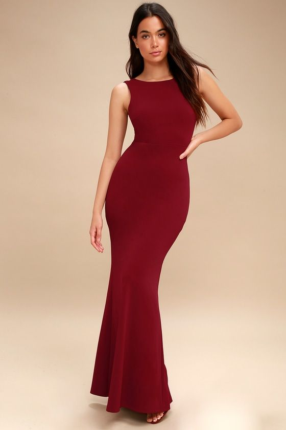 084c1627be6 Hollywood Boulevard Wine Red Backless Maxi Dress 1