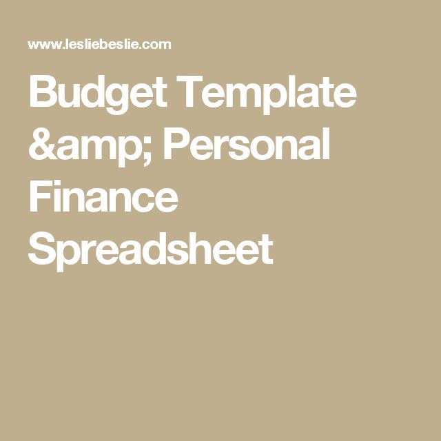 Budget Template  Personal Finance Spreadsheet #FinanceExcel