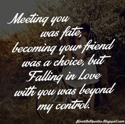 Heartfelt Quotes Meeting You Was Fate Becoming Your Friend Was A