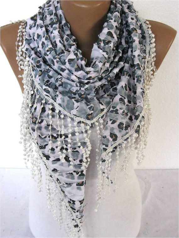 Elegant Scarf  Fashion Scarves Scarf gift Ideas For by MebaDesign
