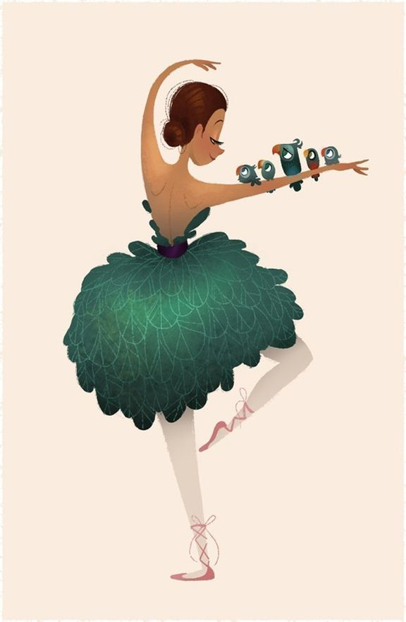 . isso não é uma bailarina