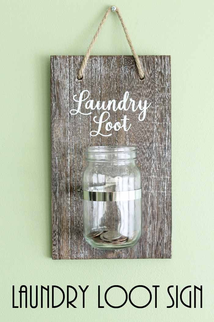Change Jar For The Laundry Room Laundry Room Decor Signs