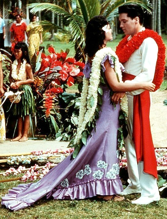 goldenageestate: Joan Blackman & Elvis Presley ~ Blue Hawaii, 1961